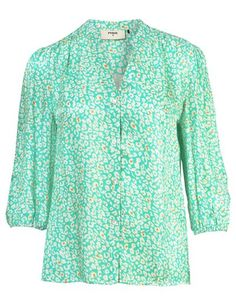 Pyrus Solace blouse - new animal spearmint - Feather & Stitch Clothes For Sale, Dresses For Sale, Dress Outfits, Fashion Dresses, Blouses Uk, Easy Shape, Pyrus, London College Of Fashion, Blouse Dress