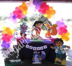 Dora Party Balloon Decorations