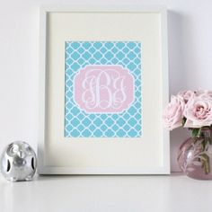 Printable monogram great for bottle cap jewelry, glass tile jewelry & fridge magnets too! #ecrafty