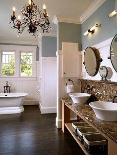 Cottage Chic Glam Bathroom