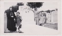 Woman and Children Mourning at Gravesite  by FunerealEphemera