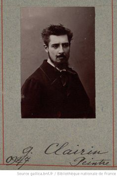 """'JOJOTTE' was the nickname of the painter Georges Clairin. Maybe a model for """"Tiche, Biche?"""" (portrait of """"Berma"""")  G. Clairin from the Atelier Nadar"""