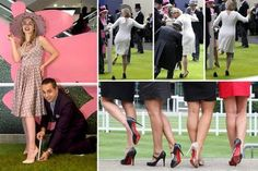 Debenhams sets up 'mini paddock' at Oxford Street store so racegoers can test out heels