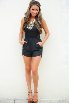 Until The End Romper: Black
