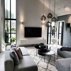 Interior Living Room Design Trends for 2019 - Interior Design Living Room Goals, My Living Room, Interior Design Living Room, Home And Living, Living Room Designs, Living Room Decor, London Living Room, Kitchen Living, Living Area