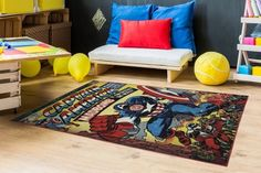 Captain America Classic Rug Captain America Retro Collectors Rugs Marvel Heroes #Gertmenian