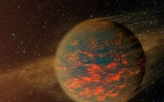 Astronomers Create the First Heat Map of a Super-Earth - Scientific American - An artist's rendition of the super-Earth 55 Cancri e, an exoplanet which may harbor seas of flowing lava or clouds of vaporized rock. Credit: NASA/JPL-Caltech