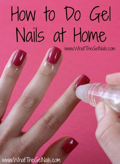 Pinterest: •Qu33n Br00ke•  How to Do Gel Nails at Home
