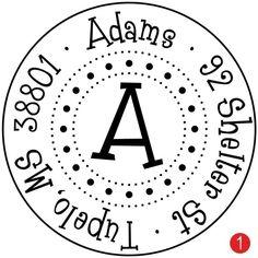 87879aa6c351 Items similar to Custom Address Stamp - Round Dottie, Monogram Stamp,  Wedding Gift, Housewarming Gift, Wooden Stamp, Self Inking Stamp, Rubber  Stamp on Etsy