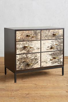 OMG LOVE OMG I LOVE THIS SO MUCH. Birch Bark Dresser #anthropologie