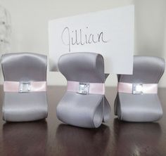 Wedding Place Card Holders  One Hundred 100 by ReservedSeating, $150.00.  Gonna have to remember this one......