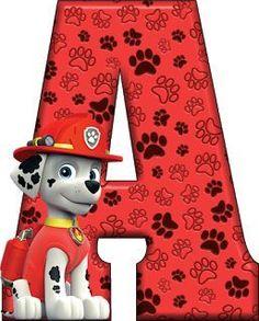 Alfabeto Decorativo: Alfabeto - Patrulha Canina - Marshall - PNG - Letr...