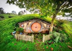 This is one of my favorite areas to shoot. You'd think I'd become a little tired of the subject-matter after a while, but I never have! Each little hobbit hole (there are 44 I think?) is perfectly adorned and unique in its own way. Plus, it changes a little with every season. So beautiful! - Matamata, New Zealand - Photo from #treyratcliff Trey Ratcliff at http://www.StuckInCustoms.com