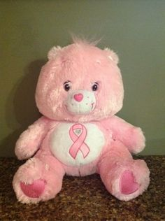Care-Bears-Plush-Pink-Power-Breast-Cancer-13-Rare-Limited-Edition-Ribbon-2008
