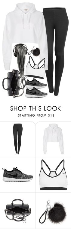 """Untitled#4534"" by fashionnfacts ❤ liked on Polyvore featuring LE3NO, River Island, NIKE and Yves Saint Laurent"