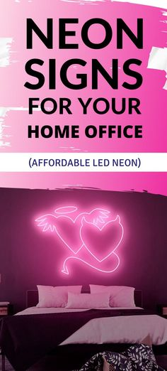 Angel or Devil? Whichever side you want to play with, get your cheeky side displayed proudly in your home with this vibrant LED neon sign. Custom Neon Signs, Led Neon Signs, Neon Home Decor, The Heat, Angel And Devil, Good Heart, Workout, Yellow, Cover