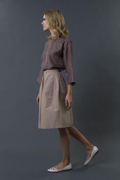 shirt charlene skirt joye FW 15-16 collection by QL2 www.quelle2.it #fashion, #women, #apparel