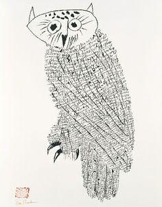 Owl No. 1, n.d., Ben Shahn, lithograph, sheet: 26 3/8 x 20 3/8 in. (67.0 x 51.8 cm), Smithsonian American Art Museum, Gift of Atelier Mourlot Ltd., 1969.2.45