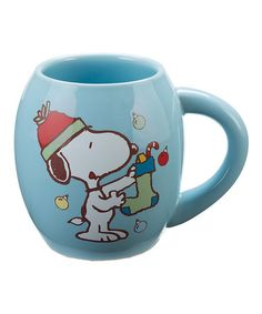 This Peanuts Snoopy Holiday Mug is perfect! #zulilyfinds