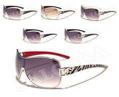 Dg Designer Fashion One Piece Lens Sunglasses With Animal Prints For Women.