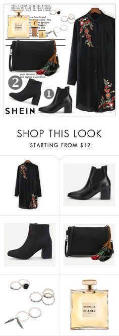 """""""Flowers are in.Outfit inspired by SHEIN"""" by maiah-bee ❤ liked on Polyvore featuring WithChic and Yves Saint Laurent"""