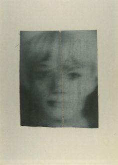 Kleiner Kopf Small Head  1966 29.5 cm x 20.8 cm Catalogue Raisonné: 104-7  Oil and graphite on canvas on card