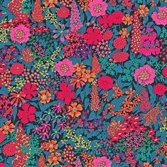 Liberty Fabric Ciara C Pink Black Tana Lawn One Yard