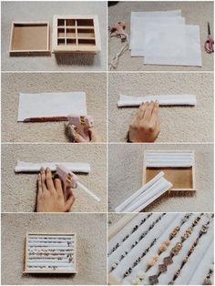 belle idée pour faire tenir vos bagues dans un coffret ou un cadre.