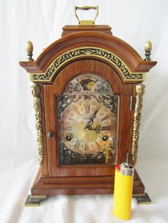 Just Listed On eBay This Very Rare Warmink Black Band 11.4'' Dutch 8 Day Burl Wood Bracket Clock, Moon Phase http://cgi.ebay.co.uk/ws/eBayISAPI.dll?ViewItem&item=371069153926