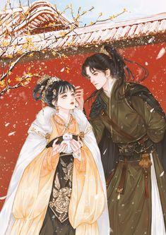 Anime Couples Drawings, Anime Couples Manga, Anime Love Couple, Couple Art, Character Illustration, Illustration Art, Chinese Artwork, Chinese Cartoon, China Art