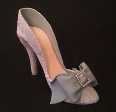 Lace gum paste shoe - Inspired by an antique shoe design here is my interpretation...