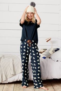 Buy Navy Gingerbread Man Pyjamas from the Next UK online shop Pijama Mujer  Invierno fb41e0b13e0