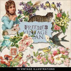 Freebies Vintage Illustrations