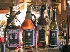 Spook'alicious Fun Halloween Bottle Labels