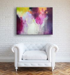 Original large abstract painting modern art by ARTbyKirsten, $259.00