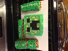 Minecraft cake for Christian's bday?