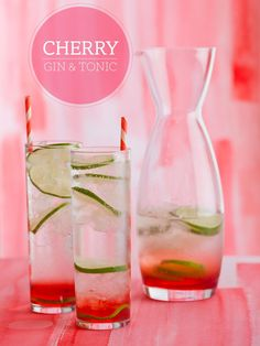 Sweet Cherry Gin and Tonic