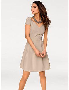 0ce8e8d1ded Acheter Ashley Brooke - Robe courte plissée fluide à décolleté coeur  féminin taupe dans la boutique