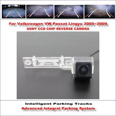 65.00$  Buy here - http://aizag.worlditems.win/all/product.php?id=32790801024 - HD CCD SONY Rear Camera For Volkswagen VW Passat Lingyu 2005~2009 Intelligent Parking Tracks Reverse Backup RCA AUX 580 TV Lines