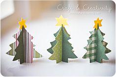 Senhoritas!   Olha que graça essas mini-árvores de papel de scrap com passo a passo lá do Craft & Creativity .   Imagina uma mesa de...
