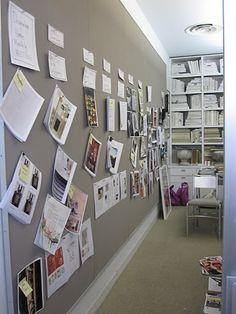 Kevin Sharkey's office at Martha Stewart...I need that wall size bulletin board!