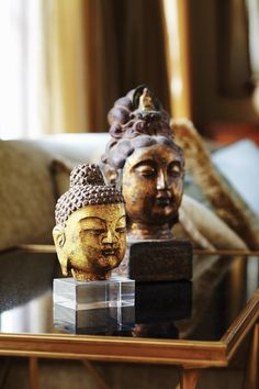 Buddhas. I have some of these in every room. From pictures to statues.