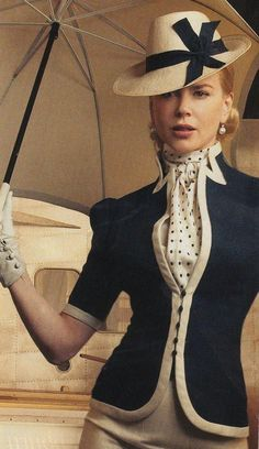 If only I could dress like this everyday. Nicole Kidman in the movie Australia via: If only I could dress like this everyday. Nicole Kidman in the movie Australia via: Moda Vintage, Vintage Mode, Vintage Hats, Vintage Chanel, Vintage Style, Vintage Dresses, Vintage Outfits, Vintage Fashion, Look Retro