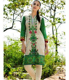 Tanzaib Kurti Shalwar Collection 2016 by Shaista Textiles D_105