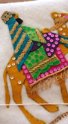 We Three Kings felt tablecloth. All sequins and beads are hand stitched. Sequin Ornaments, Felt Christmas Ornaments, Christmas Stockings, Christmas Crafts, Christmas Decorations, Modern Christmas, Retro Christmas, Vintage Holiday, Christmas Holidays