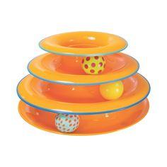 Petstages Tower of Tracks Cat Toy, Orange