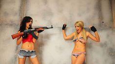 Funny Hot Girls Gun
