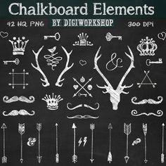 Chalkboard Clip Art Chalkboard Clipart Chalkboard by DigiWorkshop, $4.90