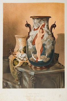 World's Fair of 1876 : Limoges ceramics, illustrated in Charles Norton, Treasures of Art, Industry and Manufacture, Art Industry, Ancient Greek Words, Exhibition Building, Architectural Antiques, World's Fair, French Artists, Art Museum, Philadelphia, Sculptures