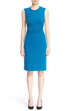 Diane von Furstenberg 'Glennie' Sleeveless Side Ruche Sheath Dress